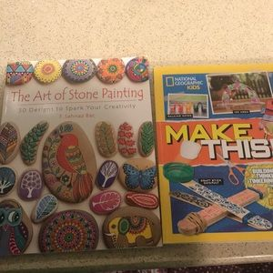 """The art of stone painting"" and ""Make this!"""